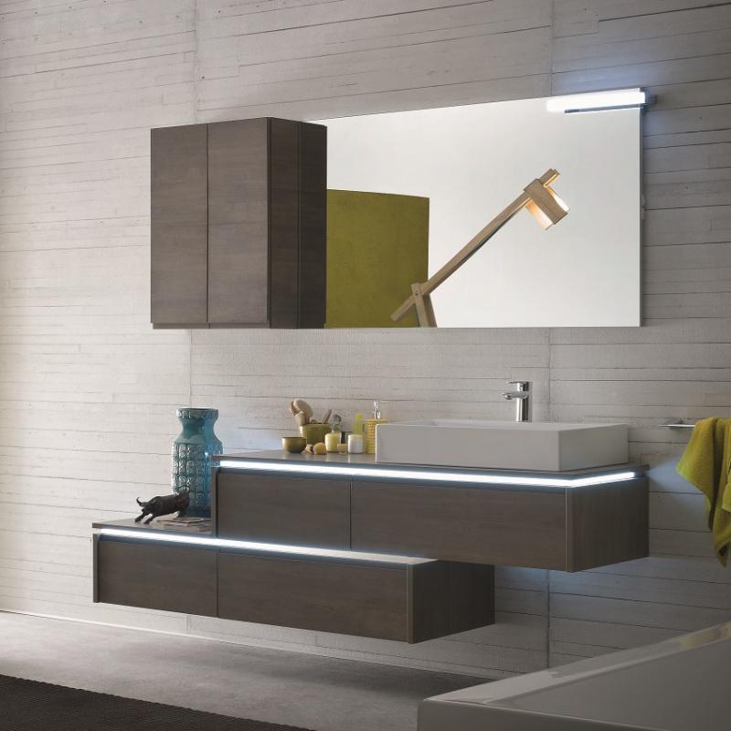 Bagno a sbalzo con led e gola arredamenti casa ilma for Produzione mobili bagno
